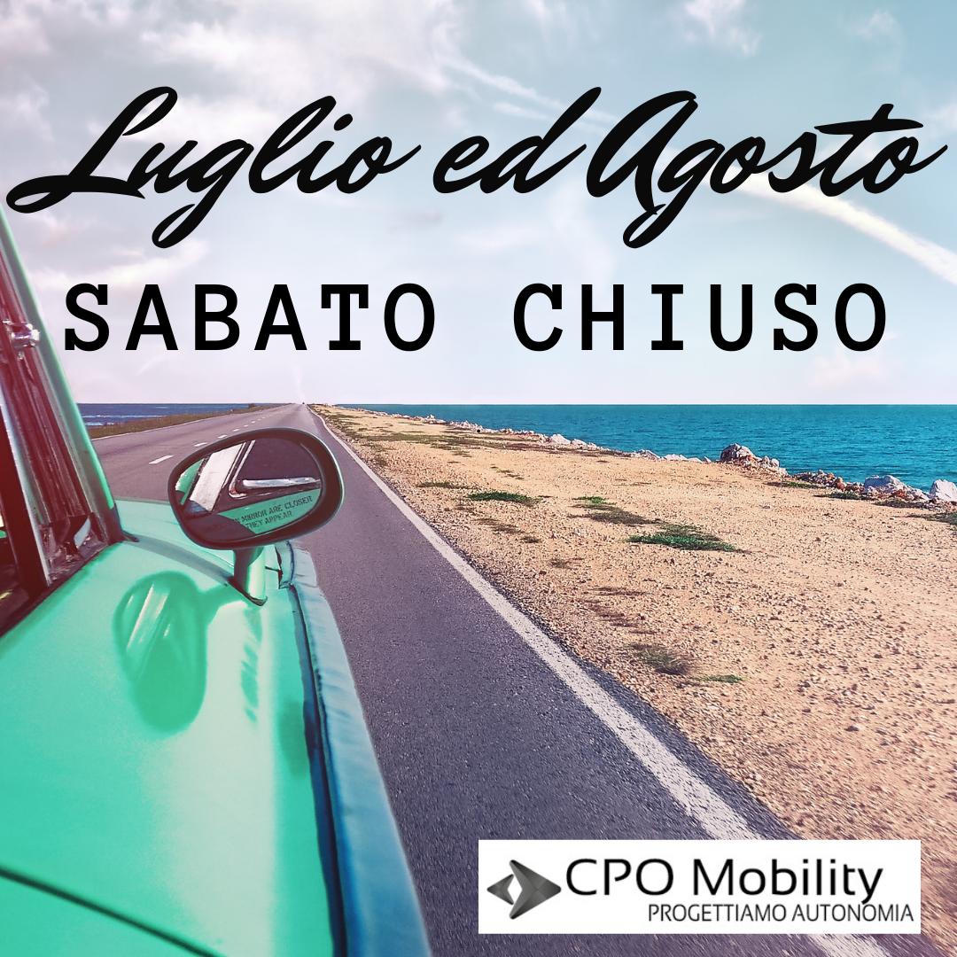 CHIUSURA LUGLIO ED AGOSTO